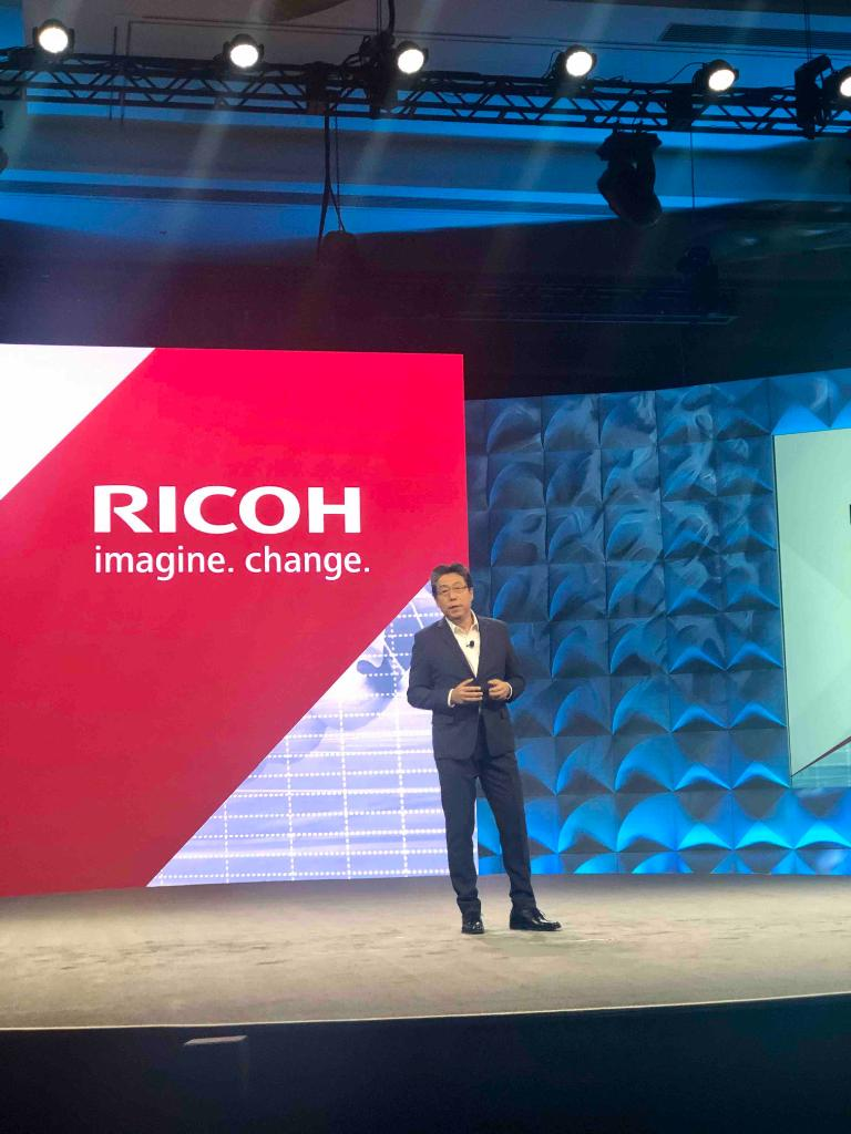 """Ricoh President and CEO Joji Tokunaga kicking off the morning of #ConvergX talking about the current landscape - """"when M&A happens attention turns away from the customer ... we are poised to be the one company totally focused on the customer."""""""