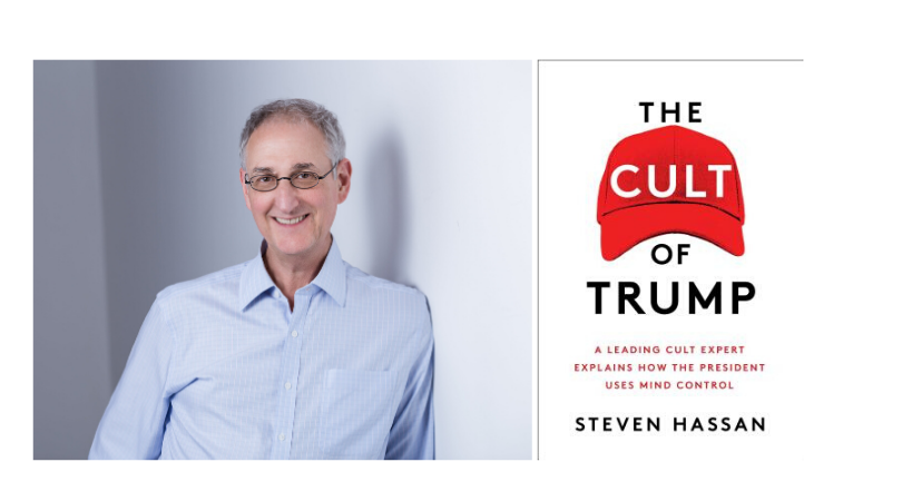"""TONIGHT! @CultExpert is here to discuss """"The Cult of Trump""""! 😱 @Marci_Hamilton says that """"Every American will benefit from understanding the hallmarks of mind control in this tumultuous and divisive era. The Cult of Trump is a book we need now."""" Don't miss it!"""