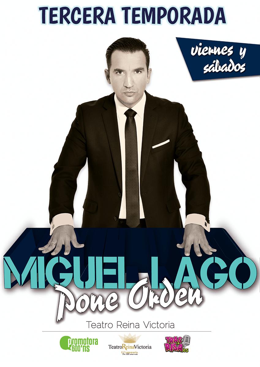 El humor canalla y sin tapujos de @SOYMIGUELLAGO te espera viernes y sábado en el @treinavictoria de #Madrid con su show #MiguelLagoPoneOrden. 👏¡No esperes más para conseguir tus entradas! ➡http://bit.ly/miguellagoponeordenmad…#Teatro #Monologo #Risas