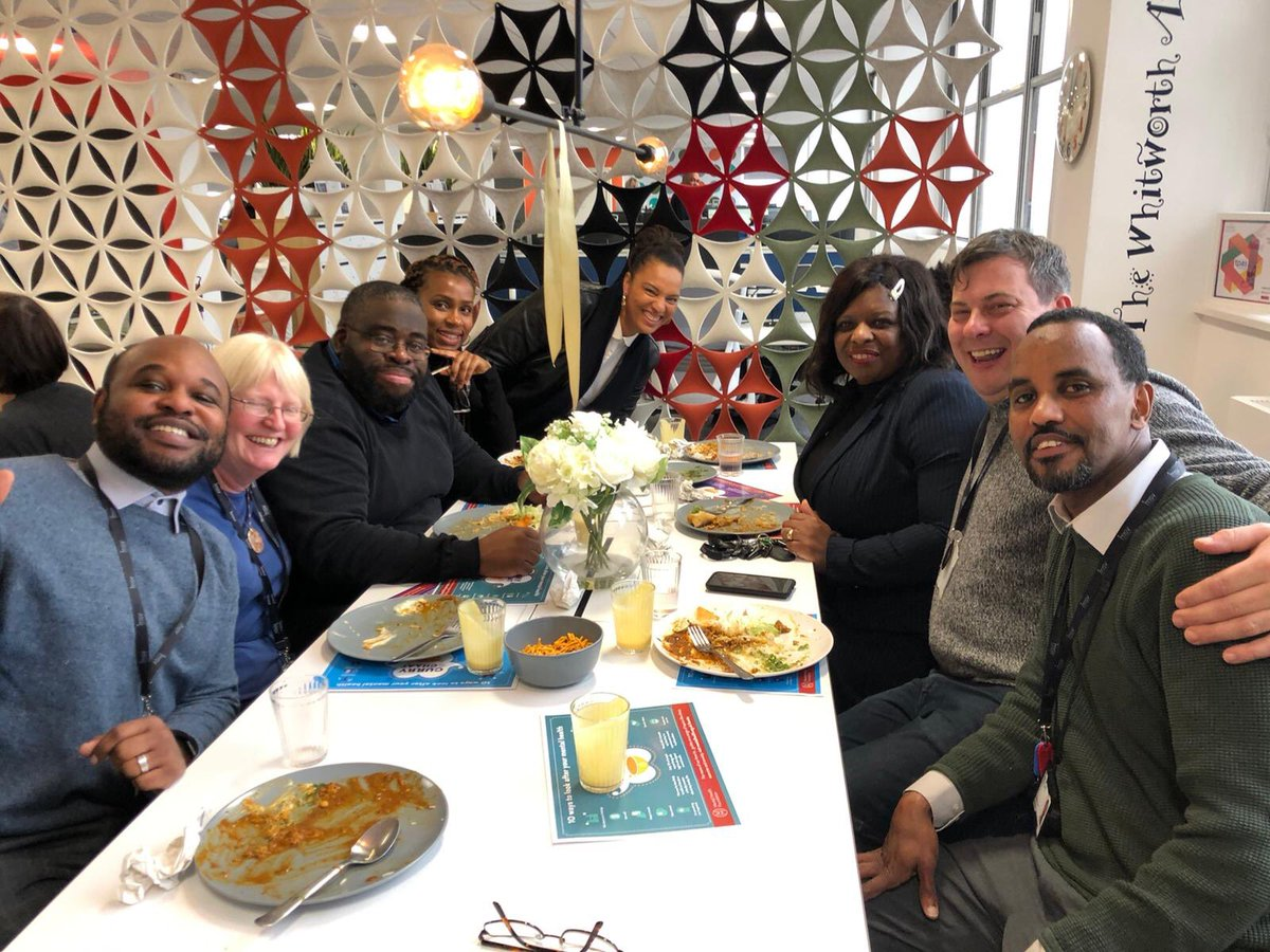 Fantastic lunch with MSV colleagues enjoying a curry and chaat talking about Mental Health as well as celebrating International Men's Day @MSVHousing