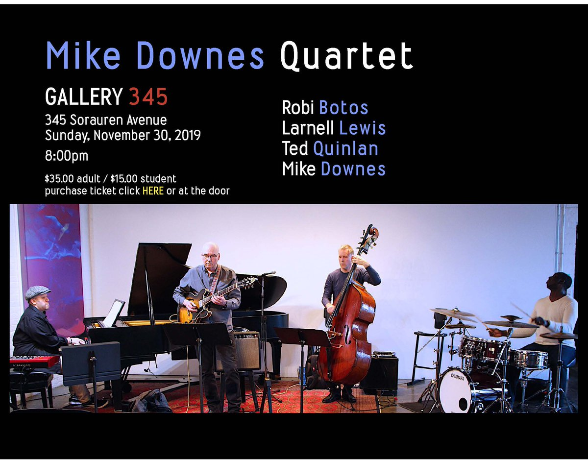 So excited about this final show in the beautiful @Gallery345 w incredible musicians @robibotos @TedQuinlan & @Larnell_Lewis - Nov. 30, 8 pm. Tickets through EventBrite (recommended as space is limited) or at the door. gallery345.com or eventbrite.com/e/jazz-at-the-…