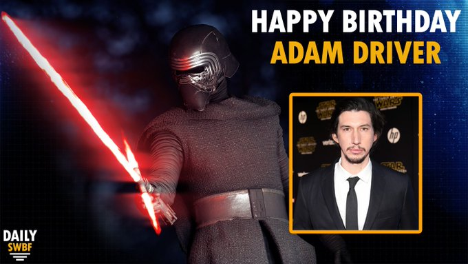 Happy Birthday to the man behind the mask of Kylo Ren, Adam Driver!