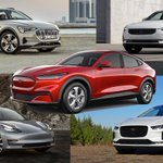 Image for the Tweet beginning: 2021 Ford #MustangMachE vs. I-Pace,