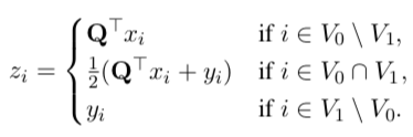NLPのFine-tuneで得られた単語ベクトルをさらに洗練する手法の提案。大規模コーパスで得られたベクトルXとそれをもとにタスク用データで微調整したベクトルYを用いて、線形回帰でXを行列Qを用いて整列させなおすことにより、新たな表現ベクトルZを得る。