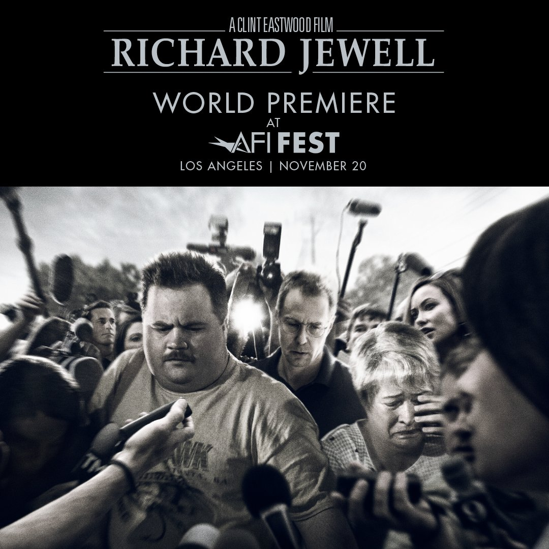 From director Clint Eastwood, #RichardJewell will make its world premiere at @AFIFEST tomorrow. Follow us on Instagram for live coverage of the red carpet and see the film only in theaters December 13.