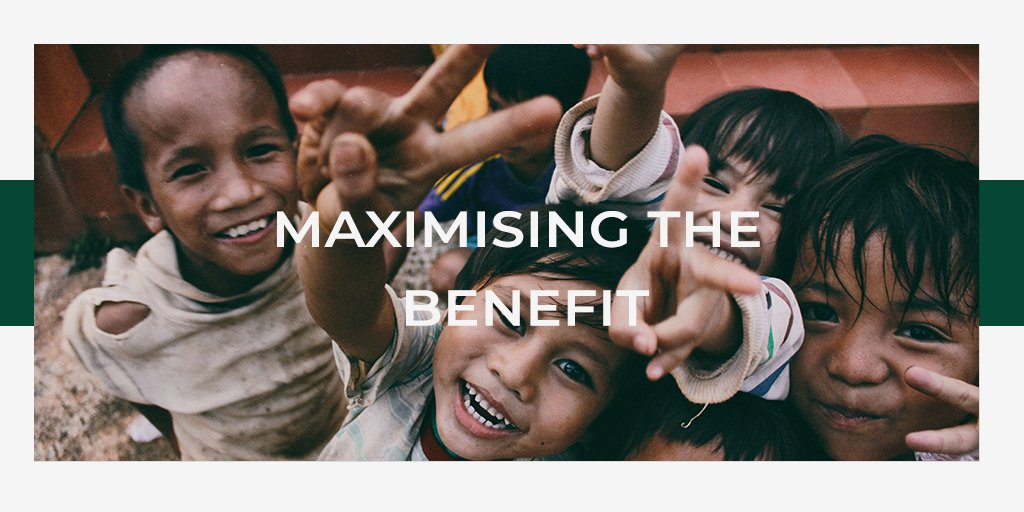 One of the key principles of the Hamish Ogston Foundation is maximising the benefit to ensure that every penny is well-spent.