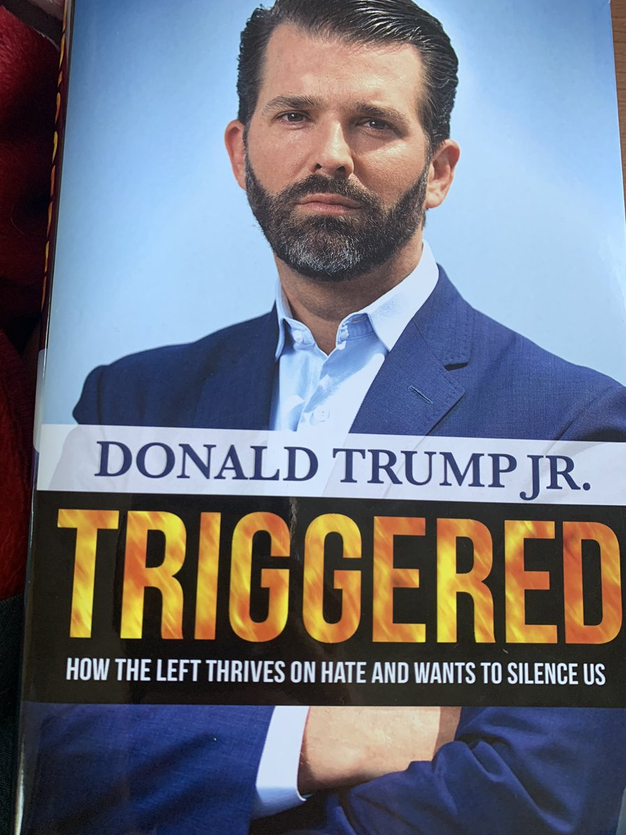 Reading #Triggered by @DonaldJTrumpJr...  Did u know his 93 yr old grandmother hid from Nazis in a farmhouse basement?   She cries when she sees the 'Starbucks socialists' on TV who don't even know what they are talking about.  Trump family politics: Built on a #firmfoundation.<br>http://pic.twitter.com/QjUyYq0Z3a
