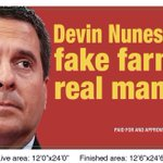 Image for the Tweet beginning: Our new @DevinNunes billboard is