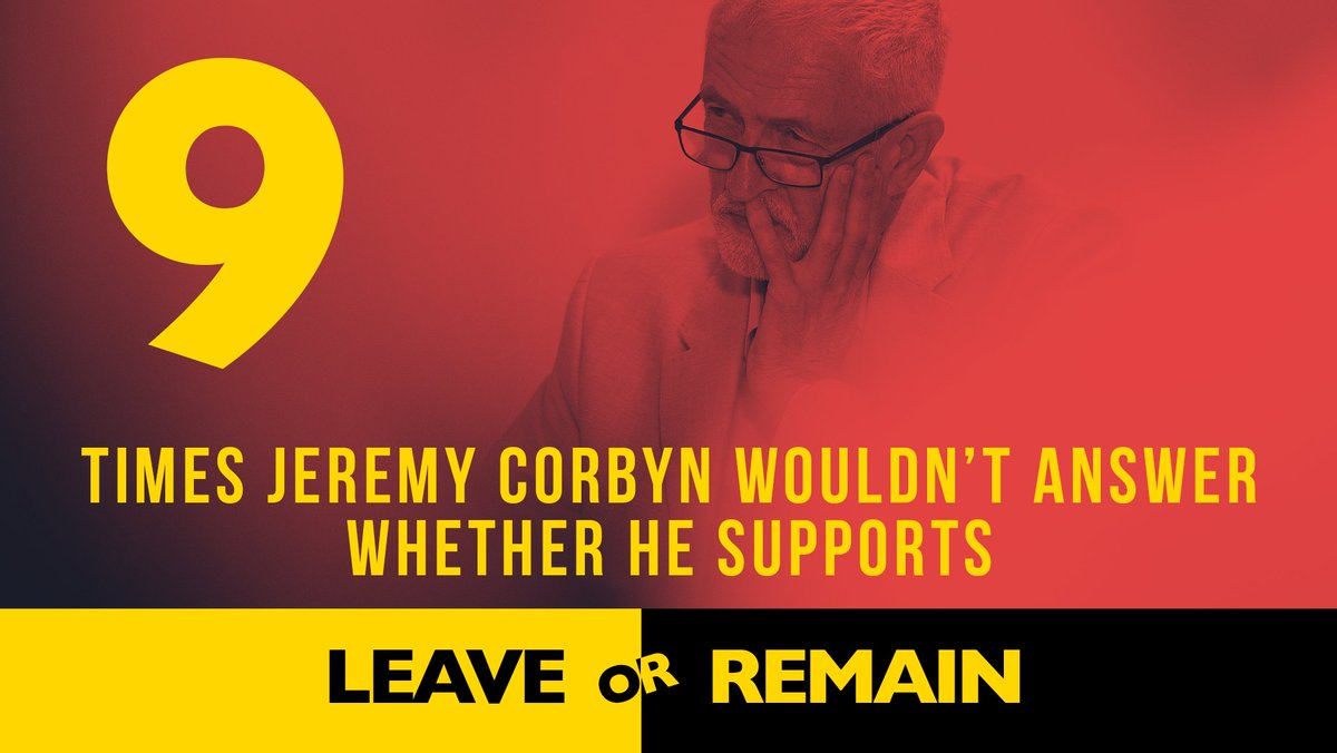So far, it's been 9 times Jeremy Corbyn has failed to say what his own position is on Brexit.  #LeadersDebate  #GetBrexitDone  #BackBoris<br>http://pic.twitter.com/vNWA5znIBE