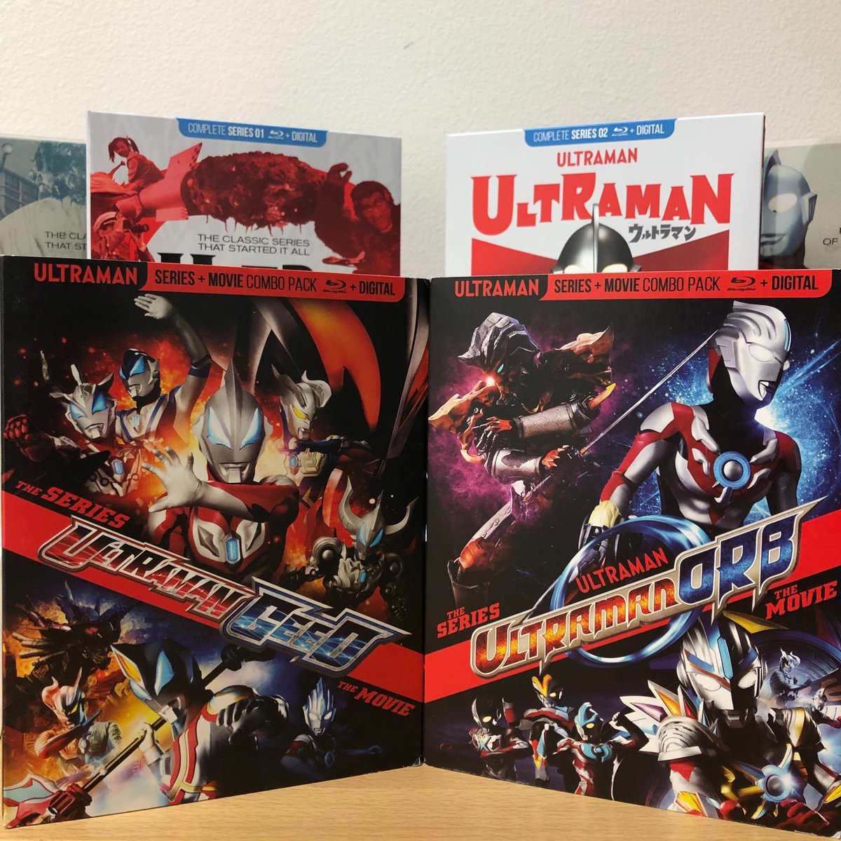 Its #NewReleaseTuesday and we're so excited that #ULTRAMAN GEED and #ULTRAMAN ORB Series & Movie Combo on Blu-ray are available NOW! Get your copy today and check out our other Ultra Series like #Ultraman, #UltramanQ and #UltraSeven!