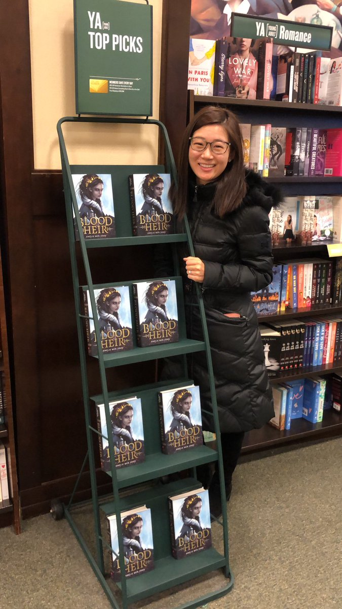 That's my baby!!!!!!!! HI BLOOD HEIR LOOK AT YOU ROCKING THE YA TOP PICKS SHELF AT BARNES & NOBLE!!!!!!!!