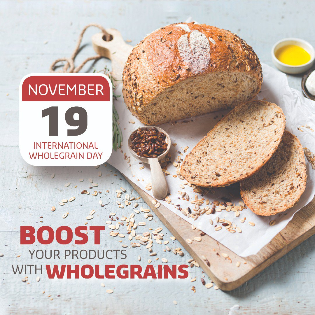 The 19th of November is International Wholegrain Day. At Puratos Canada, we love working with wholegrains when creating new bread recipes!  Do you want to add more wholegrains to your breads, check out some of our Puratos wholegrain solutions! https://t.co/f0l6M71ivs