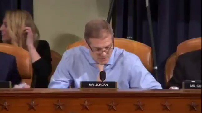 "Rep. Jim Jordan to Vindman: ""Your boss had concerns about your judgment. Your former boss, Dr. Hill, had concerns about your judgment. Your colleagues had concerns about your judgment. And your colleagues felt there were times when you leaked information."""