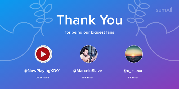 test Twitter Media - Our biggest fans this week: NowPlayingXD01, MarceloSlave, x_xsexx. Thank you! via https://t.co/SPozDQpAuj https://t.co/2MVhHonwkn