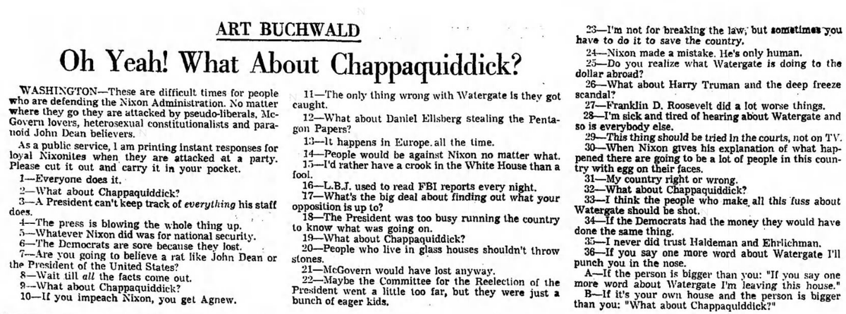 Here are handy excuses for Nixon backers by Art Buchwald, July 12, 1973. snopes.com/fact-check/han…