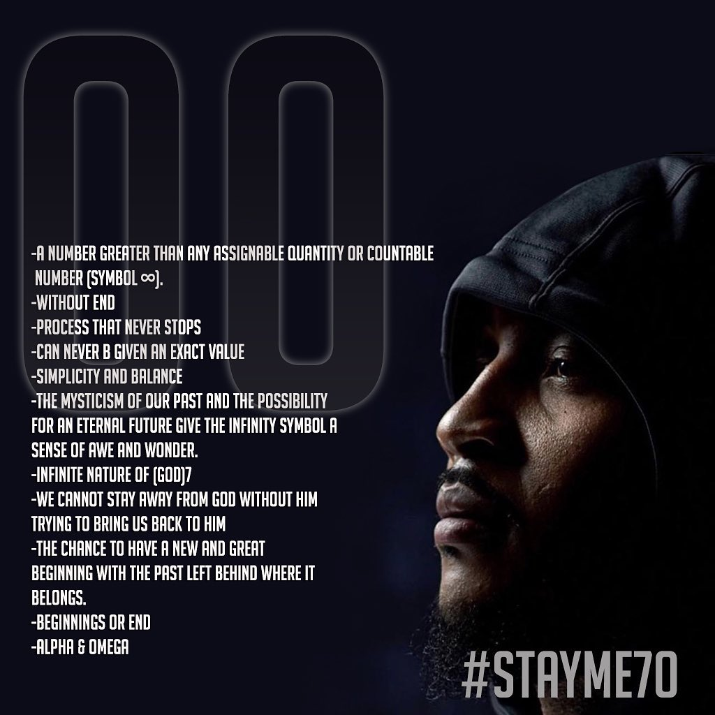 The reason Melo chose No. 00. It's deeper than basketball.  📷: @carmeloanthony / IG