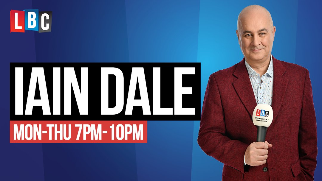 Coming up on Iain Dale in the Evening from 7pm...  7pm LBC Newshour  7.45 Preview the ITV leaders debate with Professor Sir John Curtice, live in the studio  8pm ITV leaders debate: Johnson v Corbyn  9pm Post debate analysis + listener reaction