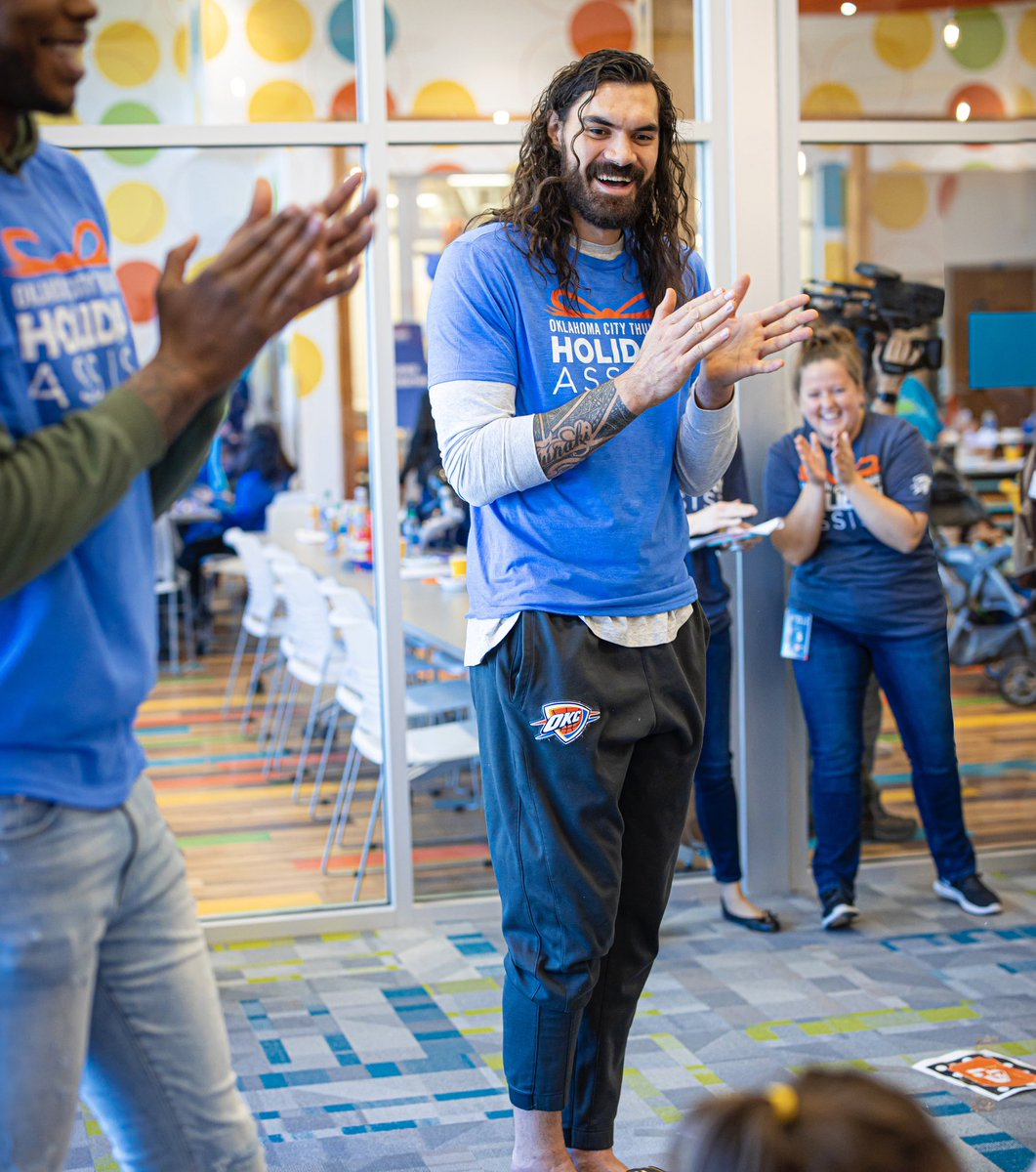 """""""What we're doing here…. is just to have a fun day to try to forget about some of the negative stuff. The real work in terms of actual impact is this thing here, this building, this organization. That's the real impact.""""   - Steven Adams on @ptokc"""