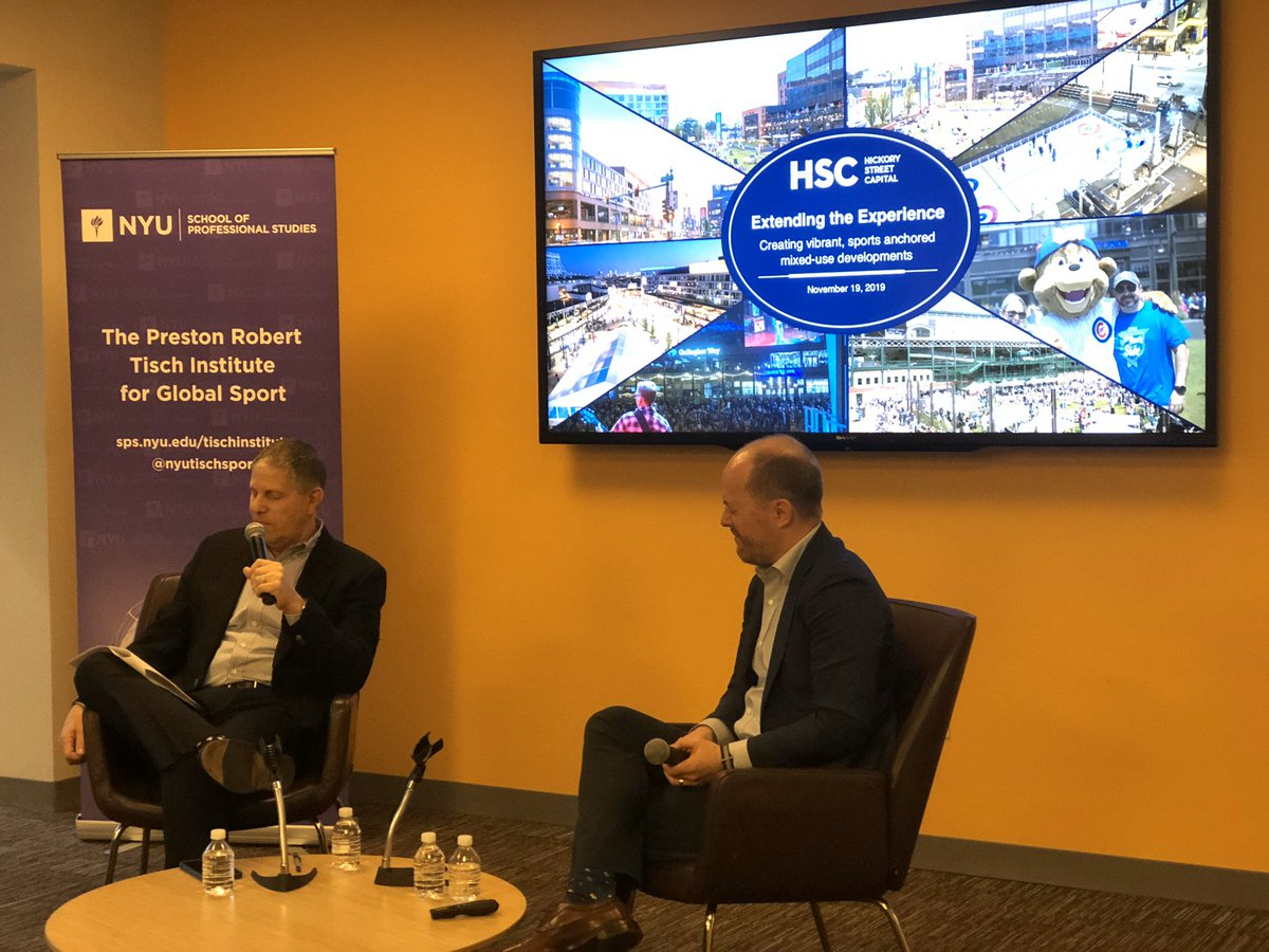 The crossroads of sports, hospitality and real estate state. A conversation with Eric Nordness! #baseball #mixeduse #stadium #wrigleyville #nyutischsport https://t.co/QBzdplL1Nf