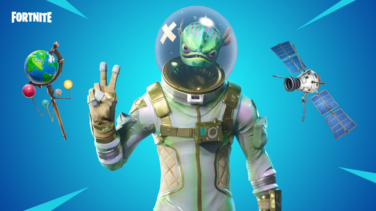 Call him fishman   Get the Leviathan Outfit and Global Axe Pickaxe in the Item Shop now!