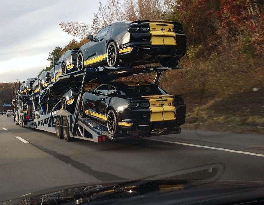 Spotted along the I-40 heading Westbound. Our Hertz - @TeamHendrick custom Camaros are in route to select airport locations. Find out more:  #HertzCamaro 📷 IG: fangsdemon