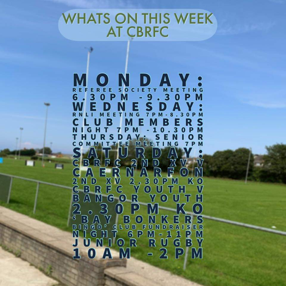 What's on this week at our club 🏉 @wru_community @ovalzonerugby #rebuildthebay #adferybae #Grassrootsrugby https://t.co/gENMBTo7uI