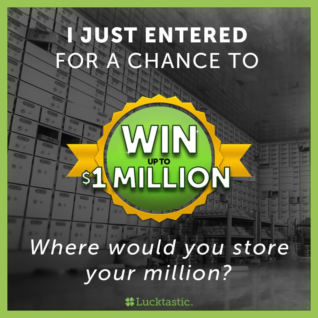 Lucktastic is giving away huge cash prize! https://t.co/5B9orOU5br https://t.co/Q1n9i9imwl