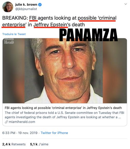 Epstein : le FBI explore la piste