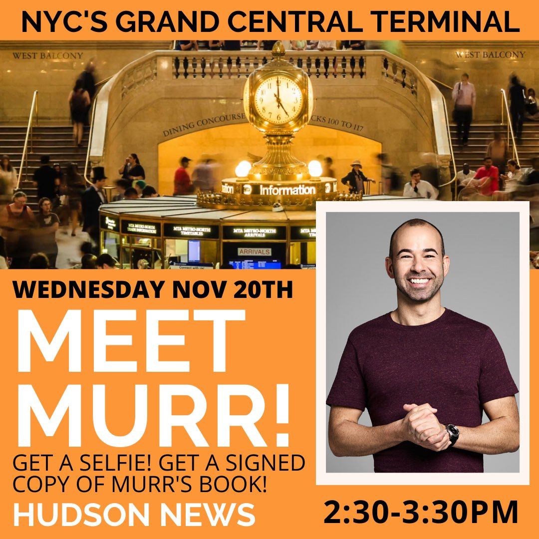 NYC - I'll be signing copies my thriller THE BRINK and taking photos with fans tomorrow (Wednesday) at the Hudson News in Grand Central Terminal from 2:30p-3:30p. Come on by! @hudsongroup @Hudson_News @HudsonBooks @HarperVoyagerUS @HarperCollins @TheBrinkNovel
