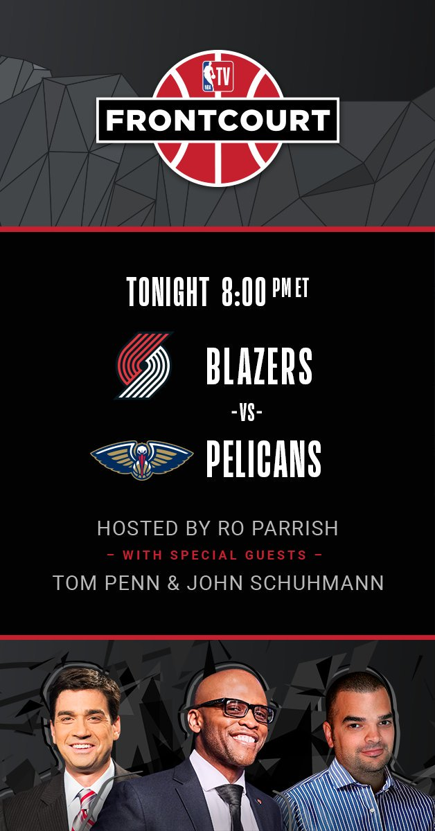 If you'd like to nerd out during  Blazers-Pelicans (8 ET) tonight, I'll be on @NBATV's Frontcourt broadcast w/ @RoParrish & @tompennlafc.  Access it via http://NBA.com or the NBA app. Many Schuhmann Stats will be cited.