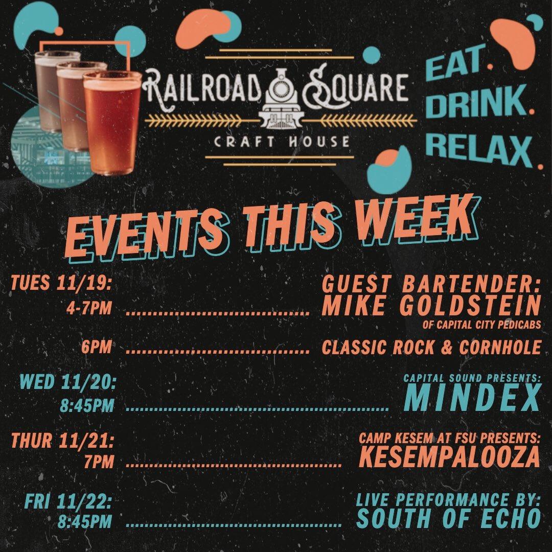 Lots happening this week! Come hang 🍻