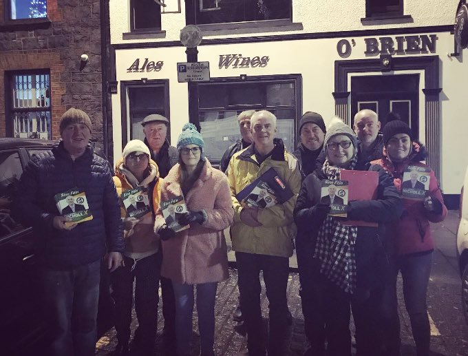 In Kilrea tonight with our #EastDerry team, campaigning for @DermotNicholl in the election of a generation! On 12th December vote @sinnfeinireland to #RejectBrexit, #RejectWestminster and send a message that it's #TimeForUnity <br>http://pic.twitter.com/yWcKXeaeiG