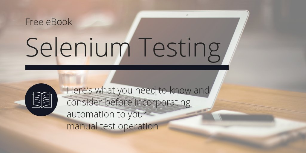Are you considering Selenium automation testing? This eBook will tell you everything you need to know before taking the plunge:  https:// hubs.ly/H0lT64s0     #testautomation #softwaretesting #Selenium<br>http://pic.twitter.com/KSFpReTli6