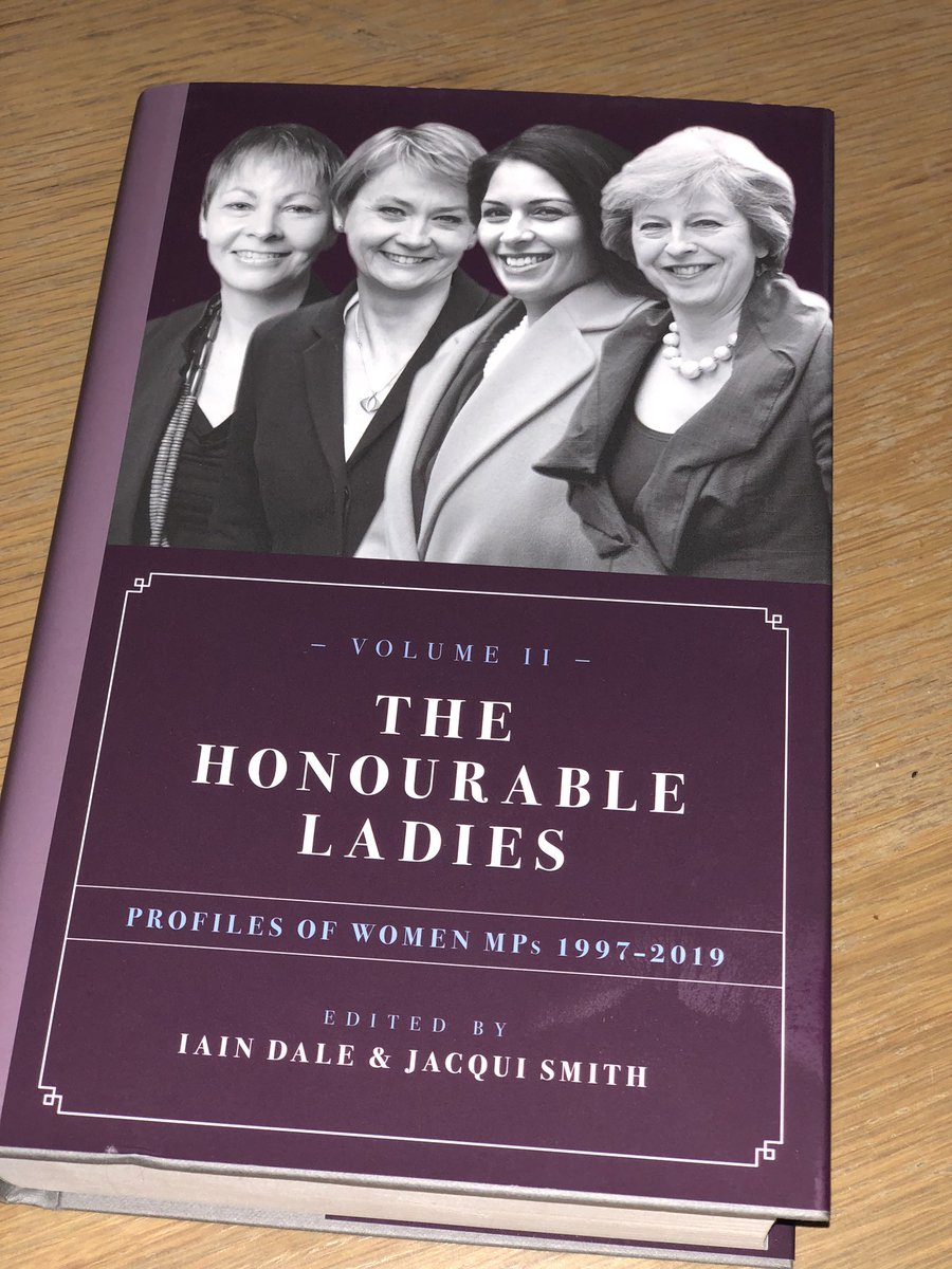 Thrilled to have contributed three biographies to this super important book The Honourable Ladies: Profiles of women MPs (edited by @IainDale and Jacqui Smith)   The book is out now and is obviously the perfect present for the politics/ feminist nerd in your life this Xmas