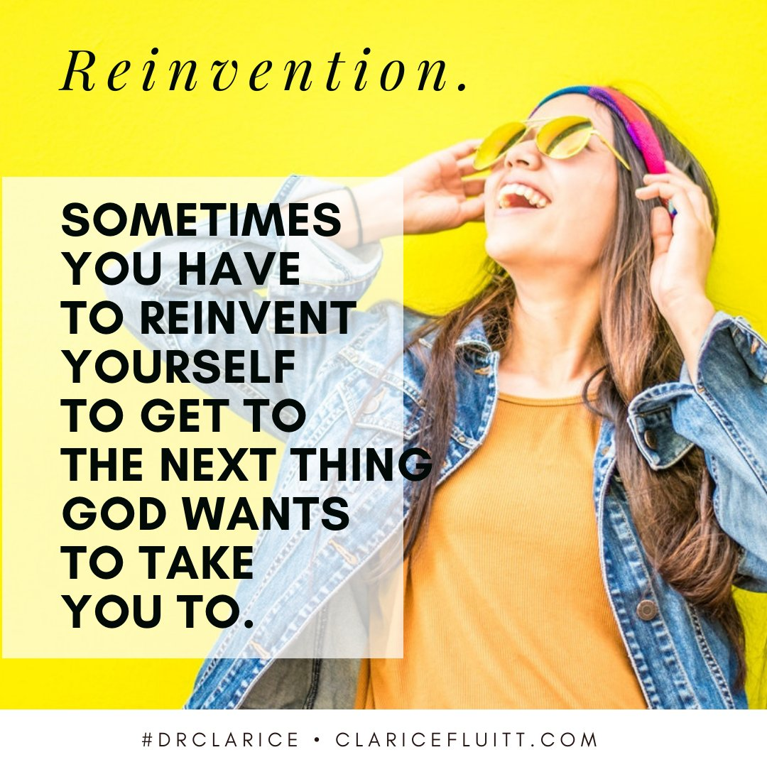 Where is God wanting to take you in this new season? Are there some things you will need to change in order to get there?  What is your plan for activating those changes?  #DrClarice #WisdomToWin #Change #Reinvent #NewPlaces pic.twitter.com/DRY3YIJD3a