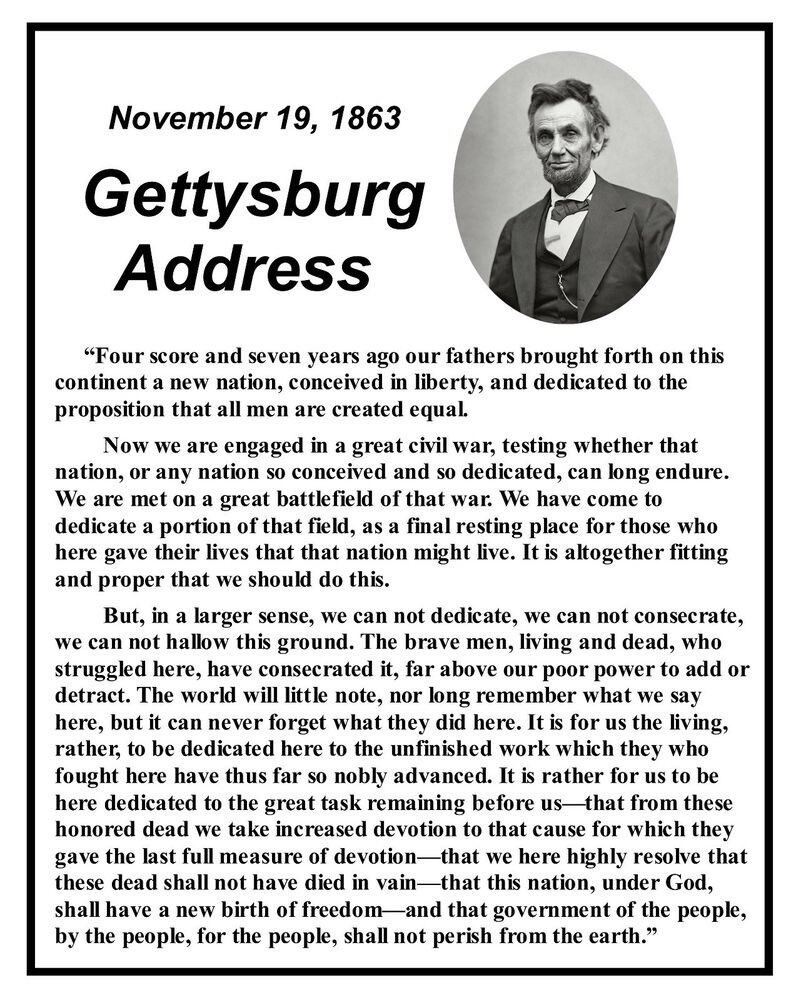 President Lincoln delivers Gettysburg Address  today in 1863.  275 words that molded America.     #1u #UnionStrong #CivilWar #TuesdayThoughts #Vindman<br>http://pic.twitter.com/9joxtdxZmS