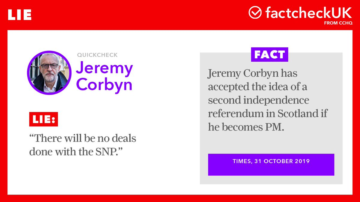 .@jeremycorbyn has accepted the idea of a second independence referendum so he can do a deal with the SNP  #LeadersDebate<br>http://pic.twitter.com/1IsmSZ5AOZ