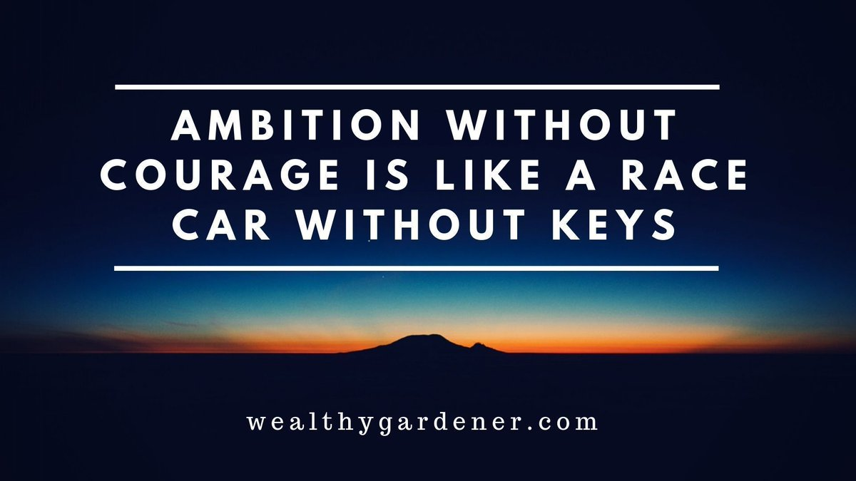 "Life Lessons on Prosperity between Father and Son #passiveincome #personalfinance #blogger #blog""Ambition without courage is like a bus without keys.""––the wealthy gardener"