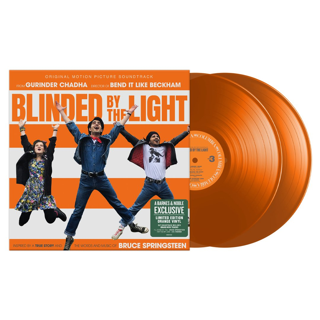 Pick up the Exclusive Orange colored LP release of Blinded By The Light: Original Motion Picture Soundtrack, and other great Bruce Springsteen titles on sale this Vinyl Weekend at Barnes & Noble! bit.ly/FindMyBN #BNVinyl
