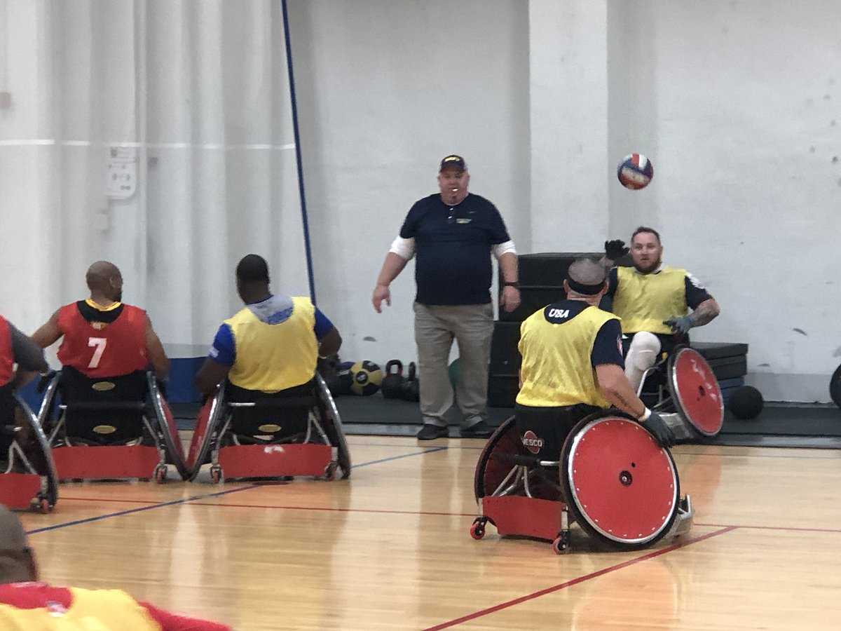 .@InvictusTeamUS is in full-on training mode this week at @Andrews_JBA, Md. Check out these hard hitting wheelchair rugby competitors preparing to take on 19 countries in the Invictus Games The Hague 2020. #KnowYourMil #IG2020