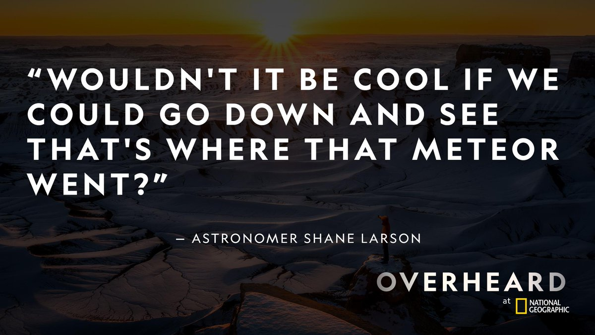 A fireball from outer space crashed into one of Earth's biggest lakes. An actor and a bunch of teenagers are on the hunt to find it.  #OverheardNatGeo Listen on  @Stitcher  https://on.natgeo.com/35iFqRv