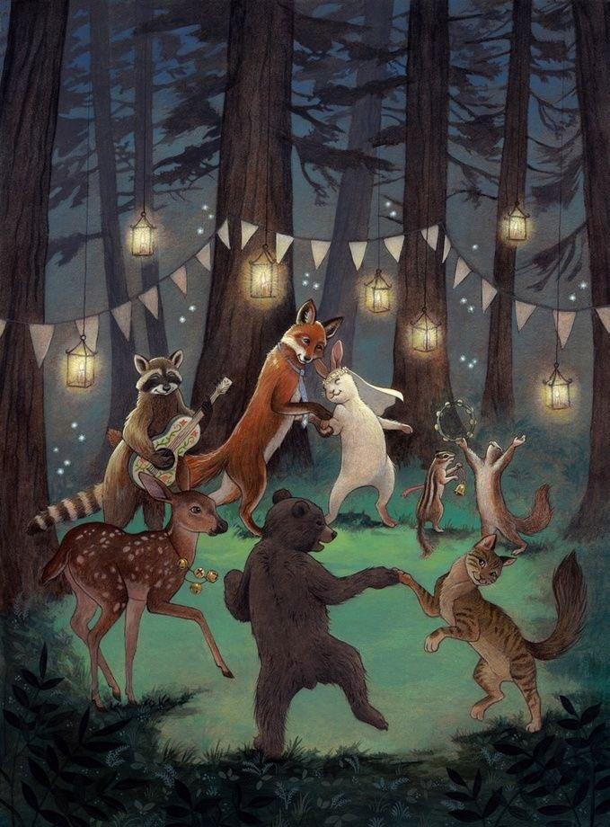 Nightnight Twitterworld, sleep well 🌙💜🕊 Art by Rebecca Solow