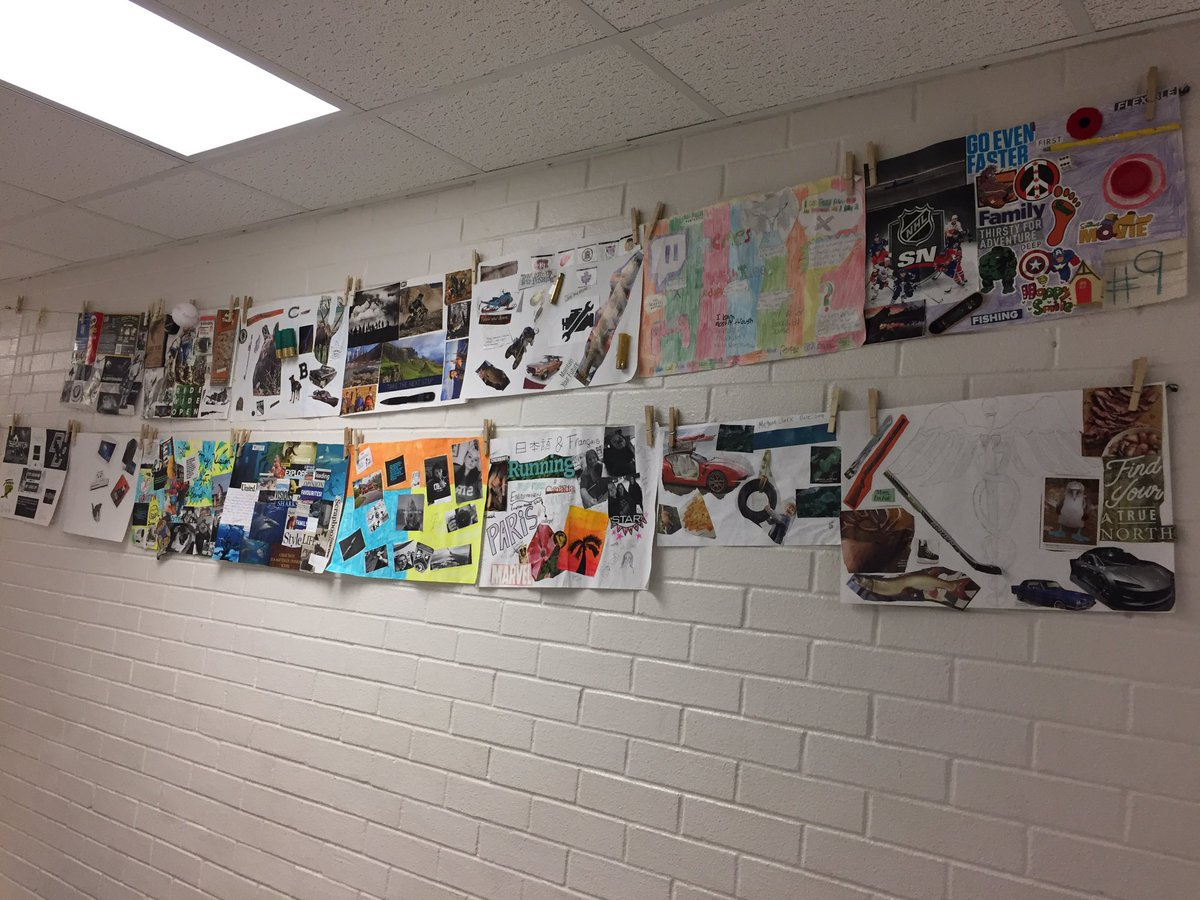 Nice to see students visions up on the wall. #visionboards #scdsbesst @eSSTteam @ncpscreemore