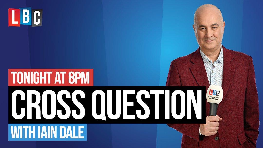 On CROSS QUESTION at 8pm on Wednesday on @LBC...  @RoryStewartUK  @AyoCaesar  @MichelleDewbs  + 1 tbc