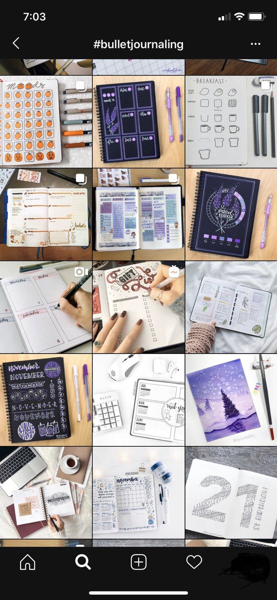 """""""Bullet journaling"""" is a social media trend in which users share pictures/videos of the process of making their notes/planners. It's a very interesting activity combining organization and art. Do you believe #bulletjournaling can make a person more productive?"""