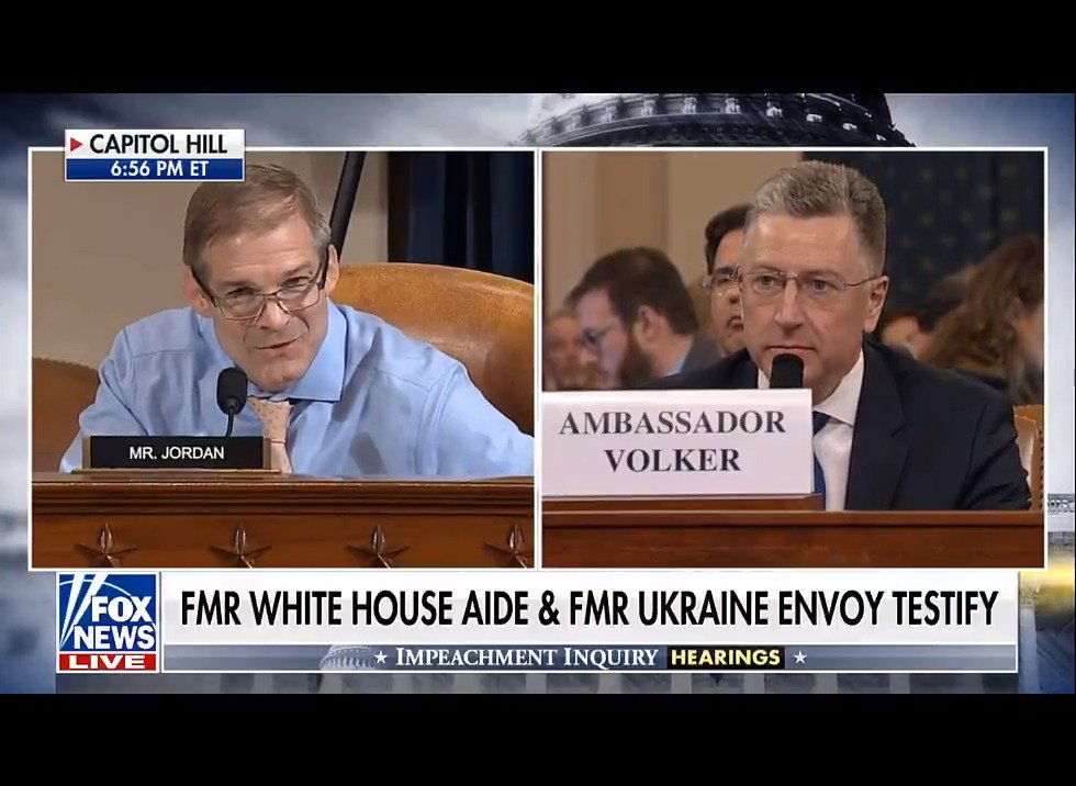 Good public servants like Ambassador Volker are LEAVING public service. All because of the Dems' impeachment sham.