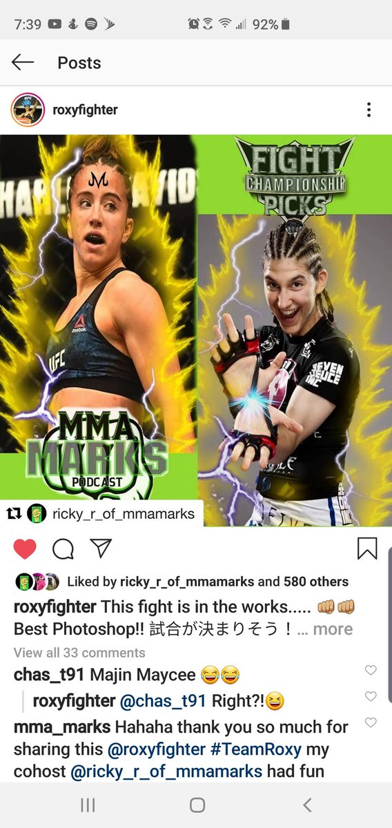 Bro!! Roxy reposted @rickymmamarks' edit! That fucking cool #TeamRoxy! Looks like I'll join the fan club @fwm_pod