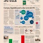 Image for the Tweet beginning: Sulla prima pagina del #sole24ore