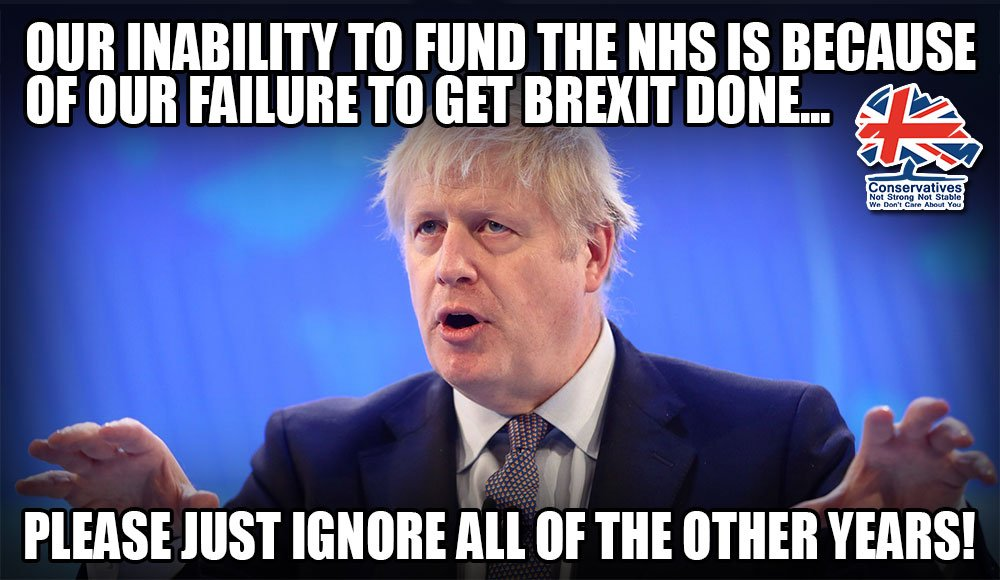 Of all Johnson's lies - and we lost count - this was the BIGGEST. With even govt projections showing a depressed economy, EU nurses & doctors going home when we have a massive shortage, and the threat of Trump, the exact opposite is true. Brexit threatens the existence of the NHS