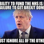 "Image for the Tweet beginning: Boris Johnson said ""Our inability"